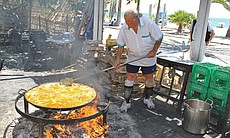 Paella in Spain.