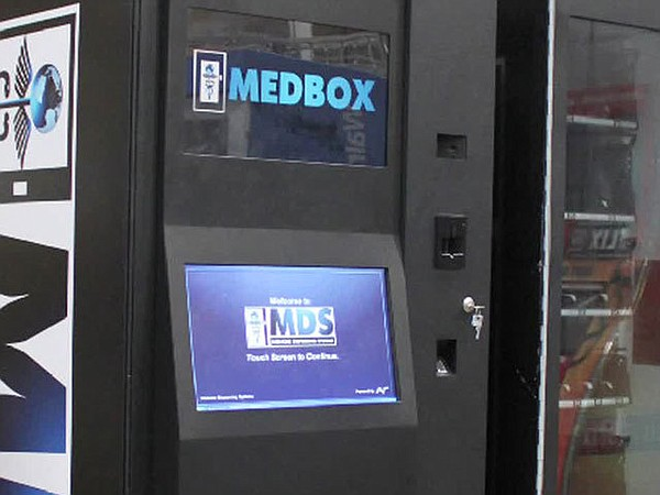 A Medbox machine that dispenses marijuana.
