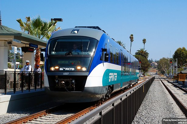 The SPRINTER rail line runs between Escondido and Oceanside.