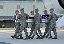 Dignified transfer of remains of Air Force Tech. Sgt. Larry D. Bunn at Dover AFB.