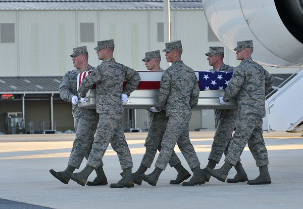 Dignified transfer of remains of Air Force Tech. Sgt. Larry D. Bunn at Dover ...