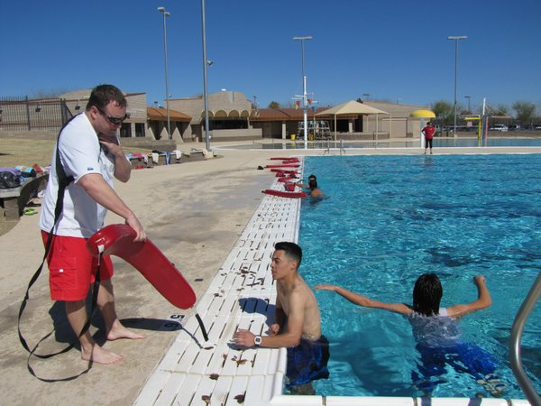 Prospective lifeguards from under-represented high schools received scholarsh...
