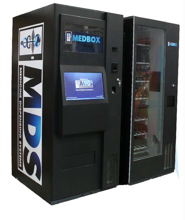 Similar to a vending machine, the Medbox safely and securely dispenses medica...