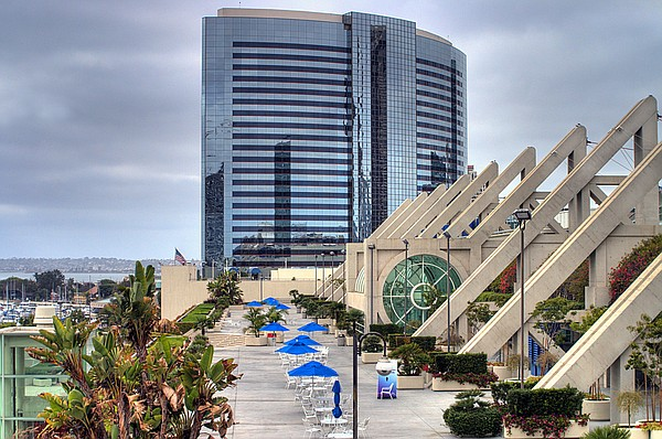 The deck on the San Diego Convention Center.