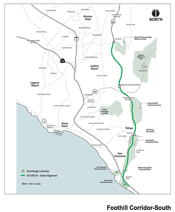 Proposed Toll Road rejected in 2008 by California Coastal...