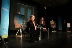 Zohreh Ghahremani, a 2012 featured One Book author, and Sonya Quintanilla, Cu...