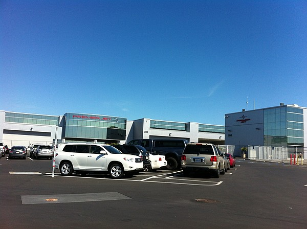 A new private jet terminal at Palomar Airport in Carlsbad...
