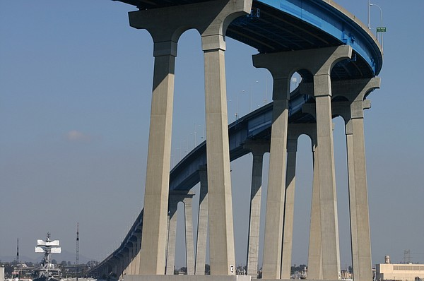 The Coronado Bridge.