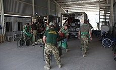 Military medics outside Camp Bastion hospital r... (23743)