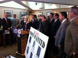 Republican state lawmakers criticize Calif. Gov. Jerry Brown's criminal justice realignment program at a Capitol news conference Tuesday.