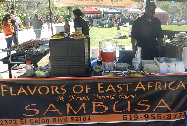 Owino, at the Flavors of East Africa booth at the San Diego State University ...