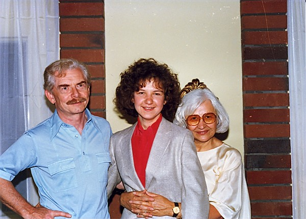 Krystyna and Adam Saling with their daughter Magda.