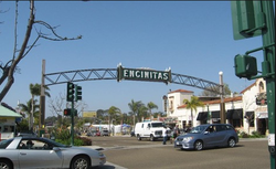 Encinitas downtown Highway 101
