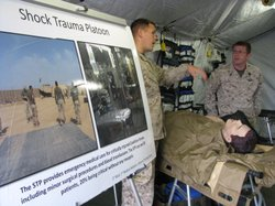 The Marines train to operate in mobile emergency medical tents, that can be p...