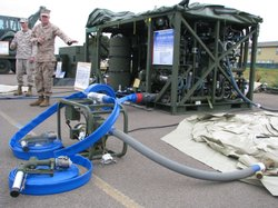 Marines say this water purification system is capable of generating more than...