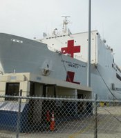 The USNS Mercy at the San Diego Naval Base on March 21, 2013.