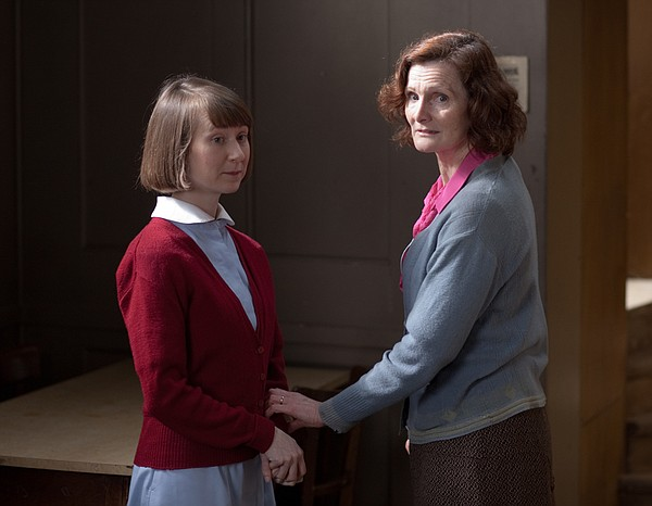 Bryony Hannah as Cynthia Miller and Nicola Sloane as Annie Lacey.