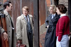 Leo Starr as Alec, George Rainsford as Jimmy, Helen George as Trixie Franklin and Jessica Raine as Jenny Lee.