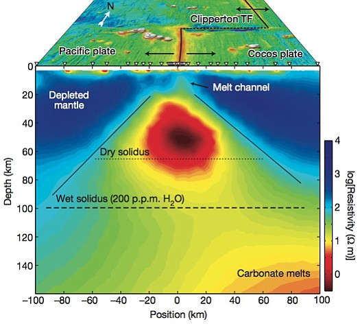 This well of magma chambered deep within the Earth's mantle beneath the Pacif...