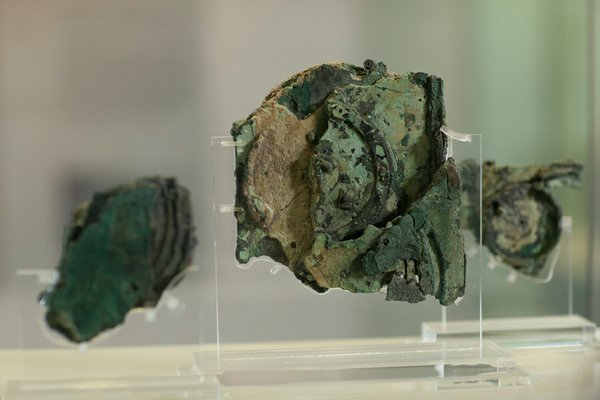 The three main fragments of the Antikythera Mechanism, Fragments A, B & C. Th...