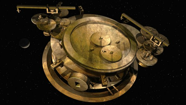 The gearing at the back of the Antikythera Mechanism, which includes the epic...