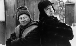 "Jack Lemmon with Walter Matthau from the film, ""Grumpy Old Men."""