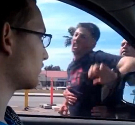 Screen shot from road rage video.
