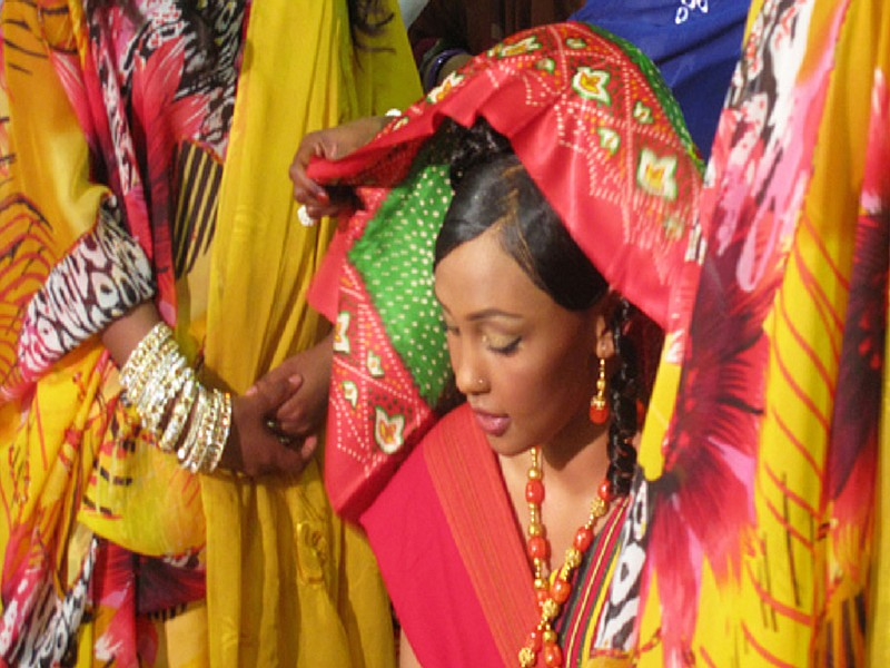 Some regions of Somalia celebrate the Shaash Saar, or scarf ceremony. Seven d...