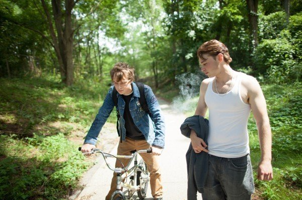"Dane DeHaan as Jason (left) and Emory Cohen as AJ (right) in ""The Place Beyond the Pines."""