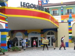 A young girl welcomes visitors to Legoland's new hotel, April 5th 2013