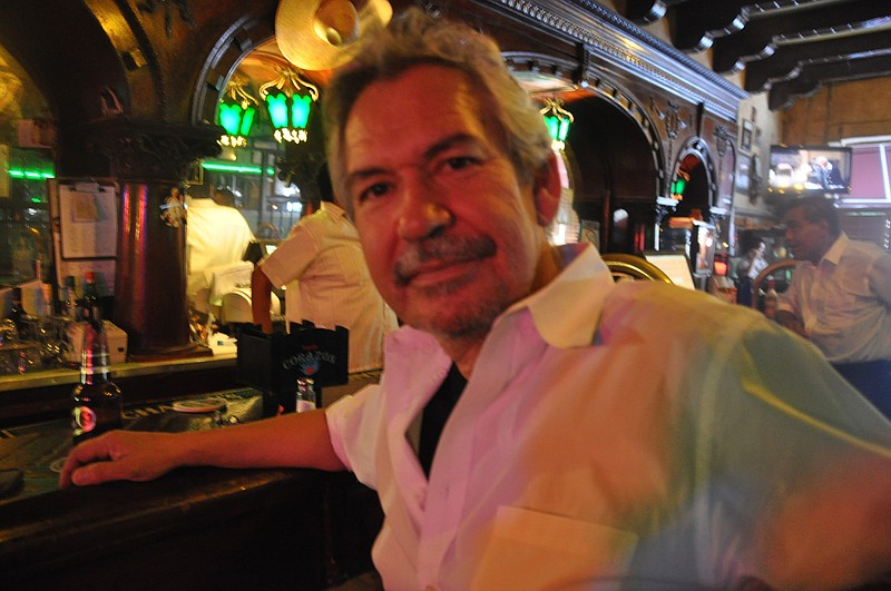 Author Benjamin Alire Sáenz at the Kentucky Club in Ciudad Juárez.