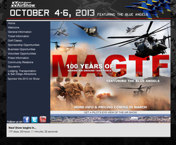 Miramar Air Show website homepage
