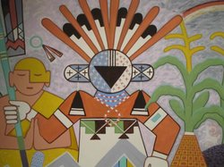 A Katsina depicted in a mural at the Museum of Northern Arizona