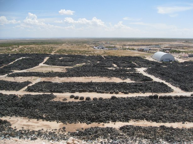 Ciudad Juárez was home to the largest used tire stockpile along the U.S.-Mexico border. At its highest capacity this dump held close to 5 million tires.
