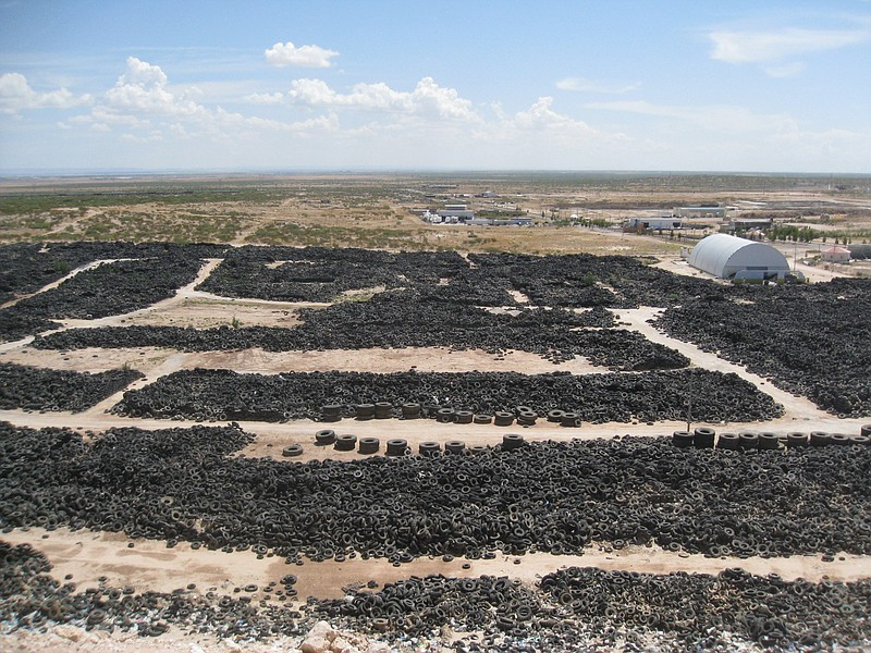 Ciudad Juárez was home to the largest used tire stockpile along the U.S.-Mexi...