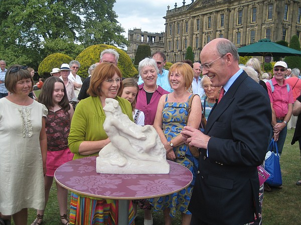 Clive Stewart-Lockhart values a sculpture of Eve by Newbury Trent.