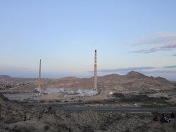 A pair of smokestacks that dominated the skyline between the border cities of El Paso, Texas and Ciudad Juárez are no more.