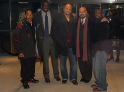 The Central Park Five: (L to R) Korey Wise, Yusef Salaam, Kevin Richardson, R...
