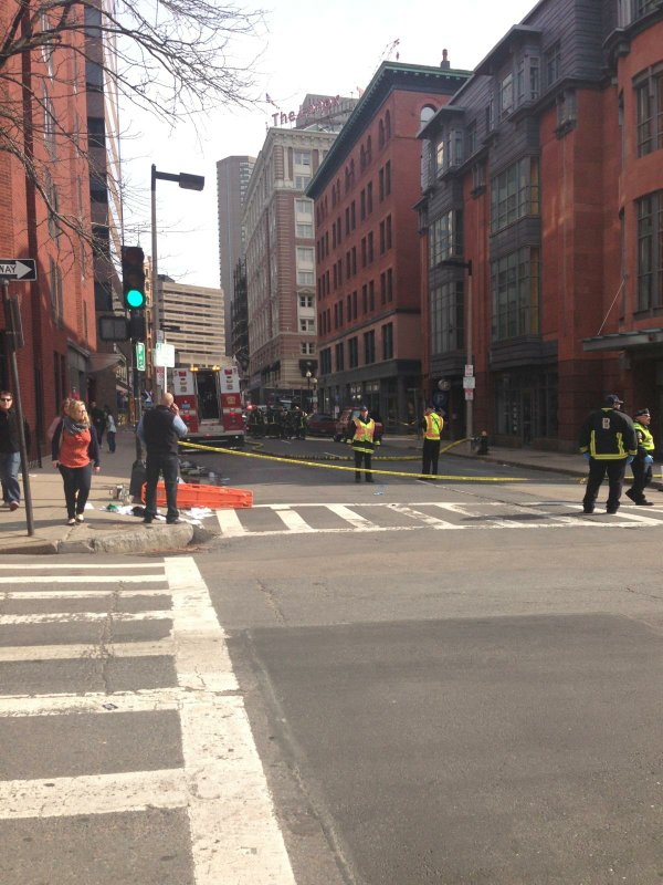 A Boston street after the explosions near the Boston Mara...