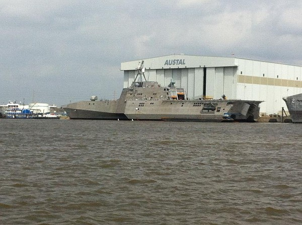 The littoral combat ship Coronado.