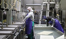 Tofu makers at San Diego Soy Dairy.
