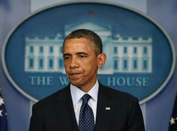 President Barack Obama speaks about today's bombing at the Boston Marathon, A...