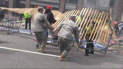Team Ruck assists in chaotic aftermath of Boston Marathon bombings.
