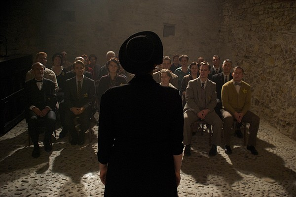 Re-enactment of a small underground concert in Terezin concentration camp.