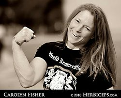 Carolyn Fisher has won five world arm wrestling championships. She entered he...