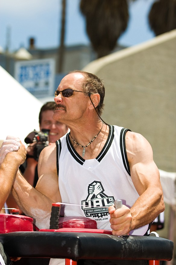 Allen Fisher has won 26 world championship titles in arm wrestling.