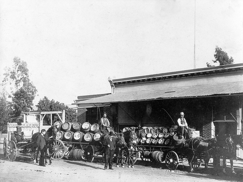 San Diego Brewing Company distribution, 1901. The brewery made deliveries thr...