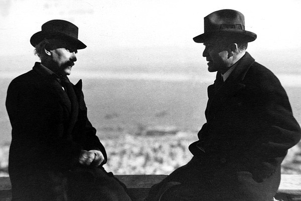Arturo Toscanini and Bronislaw Huberman.