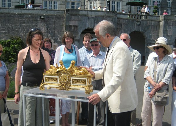 Richard Price values a large French ormolu and marble clock