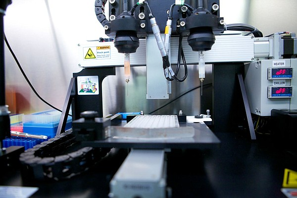 San Diego-based company Organovo uses 3D printing technology to assemble tiss...